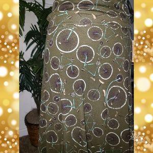 LuLaRoe Skirts - Xs bicycle Lularoe maxi skirt
